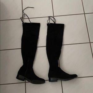 Knee High Tie Boots